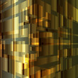 Gold abstract metal background vector