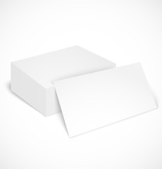 Stack of business cards with shadow template