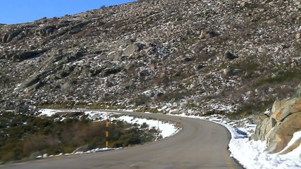 snow ride on the mountain