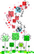 Ladybugs, shamrocks, hearts to wish good luck.