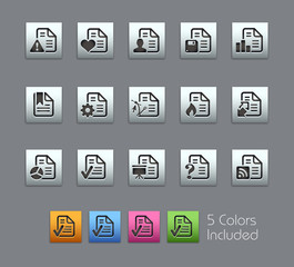 Documents Icons - 2 / Vector includes 5 Colors