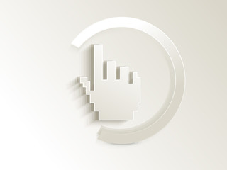 abstract hand cursor button