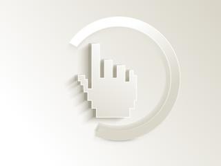 abstract hand cursor button