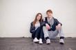 Cool teenage couple