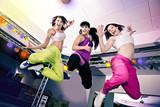 Fototapety zumba and aerobics girls