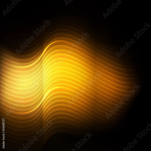 Gold metal abstract background vector river