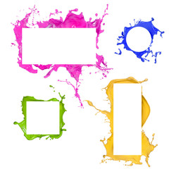 Colored splashes frames