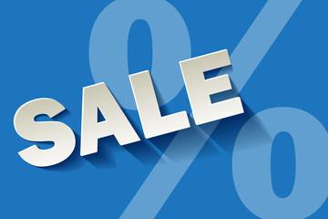 Sale weiss dunkelblau Prozent