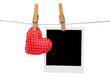 Photo frame and heart