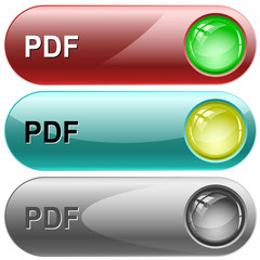 Pdf. Vector internet buttons.