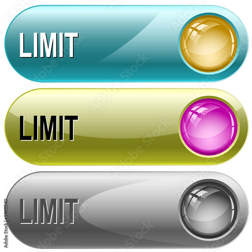 Limit. Vector internet buttons.