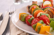 vegetarian skewer kebab