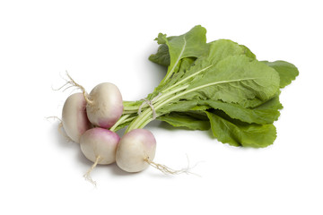 Fresh young small turnips