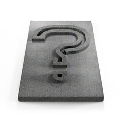 monochrome question mark