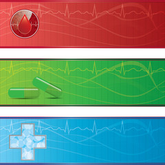 Set of medical banners.