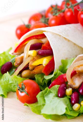 Mexican fajitas (tortilla wrap)