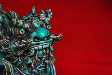 Chinese dragon in a temple