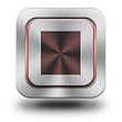 Stop aluminum glossy icon
