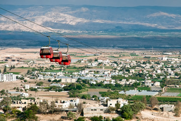 Cable car over Jericho.