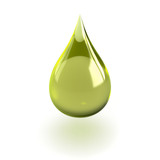 Fototapety Oil drop isolated on white background