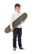 Portrait Of A Boy Holding Skateboard