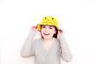 junge Frau mit Mütze