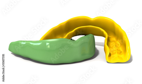 Gum Guard Green and Gold Front