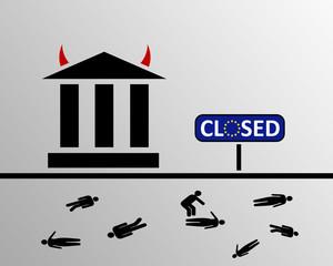 EU Banken geschlossen - fatale Folgen