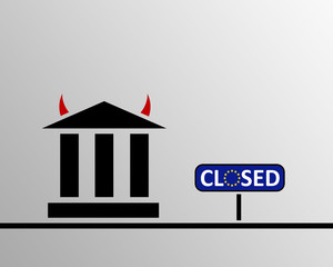 EU Bank hat geschlossen