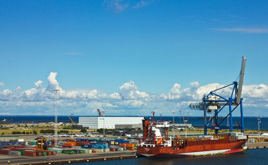 Container terminal in Copenhagen sea port