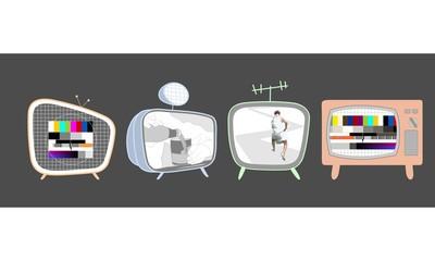 as  4 Retro-Fernseher