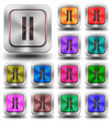 Pause aluminum glossy icons, crazy colors