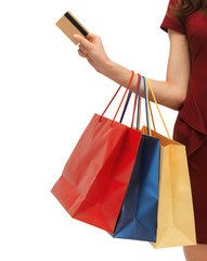 picture of woman with shopping bags