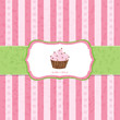 Pastel Vintage Cupcake Background