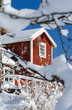 Swedish architecture details in winter season