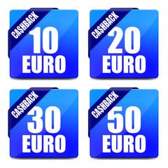 button eckig 10 20 30 50 euro cashback I