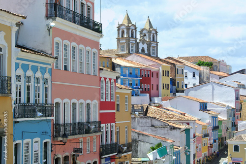 canvas print picture buntes Pelourinho