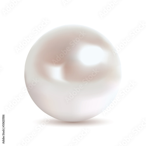 Very realistic shiny pearl. Gradient mesh used.
