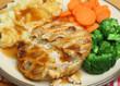 Chicken Pie with Mash & Vegetables