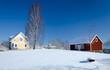 Swedish village in winter scenery