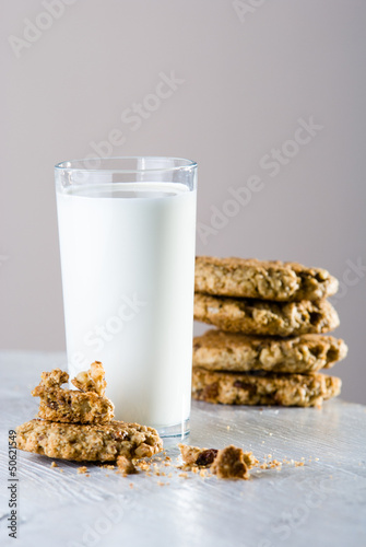 milk with home made cookies