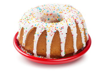 cake with icing and sprinkles