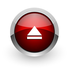 eject red circle web glossy icon