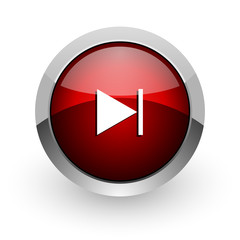 next red circle web glossy icon
