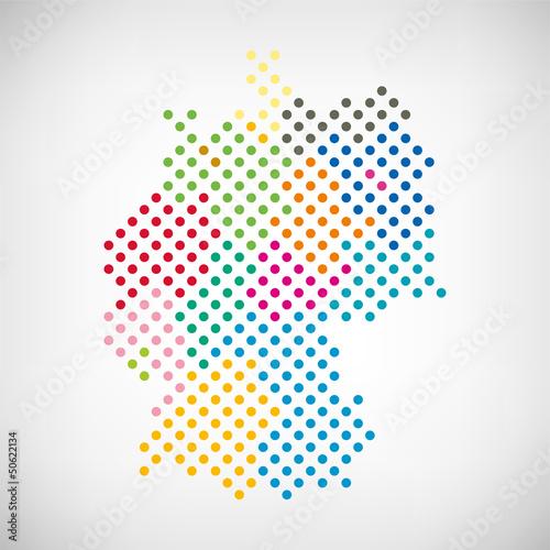 Deutschland Bundesländer punktiert