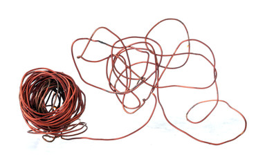 Old copper wire recyclable materials
