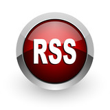 rss red circle web glossy icon