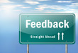 "Highway Signpost ""Feedback"""