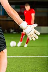 Man scoring a goal