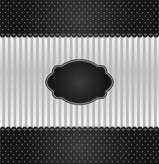 Black and silver vintage invitation cover